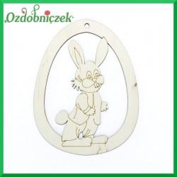 Jajko zawieszka królik staruszek nr 34