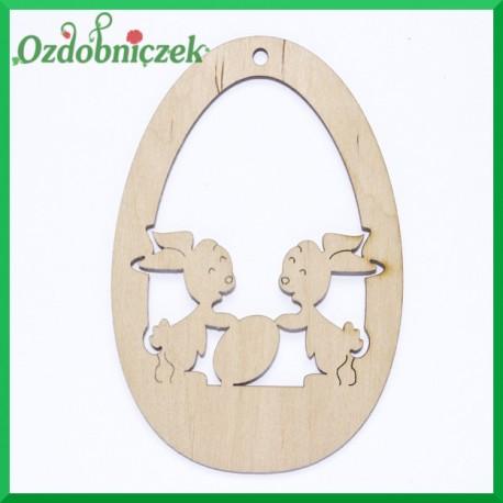 Jajko zawieszka króliczki i jajko nr 1