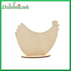 Kura Mała na podstawce - sklejka ozdobna