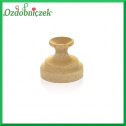 Stojak, podstawka drewniana na jajko niska