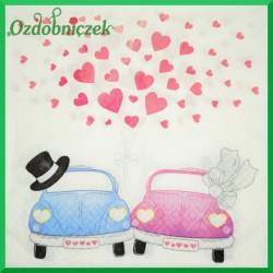 Serwetka do Decoupage zakochane auta
