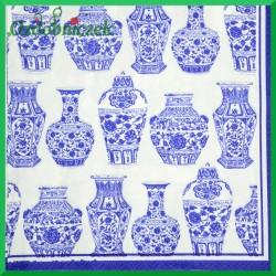 Serwetka do Decoupage niebieskie wazy