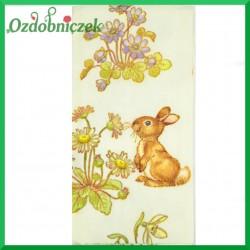 Chusteczka do Decoupage króliczek z kwiatuszkami