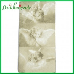 Chusteczka do Decoupage trzy aniołki retro