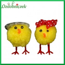 Pani kurczak z kokardką Pan kurczak w czapce zestaw 2szt.