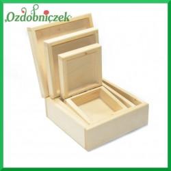 Pudełka 3szt kwadrat