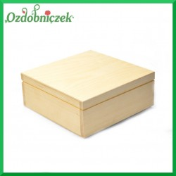 Pudełko drewniane 20x20x8cm