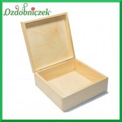 Pudełko drewniane 17x17x7cm