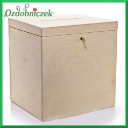 Pudełko kwadrat duże na koperty ślubne
