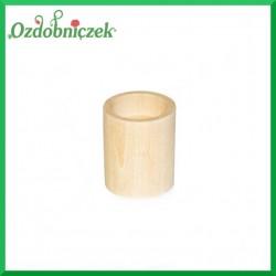 Świecznik drewniany okrągły mały