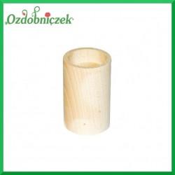 Świecznik drewniany okrągły średni
