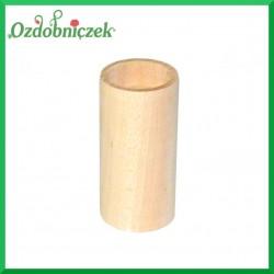 Świecznik drewniany okrągły duży