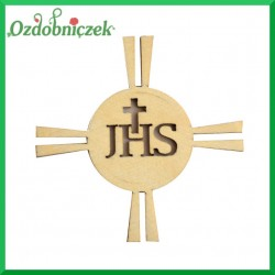 Emblemat IHS ze sklejki 6cm