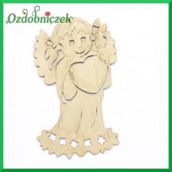 Aniołek dziewczynka z serduszkiem 9cm