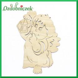 Aniołek - chłopczyk z lampką 15cm