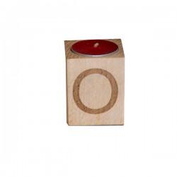 Drewniany świecznik plus Grawer 1szt