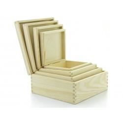 Pudełka 4 szt kwadrat