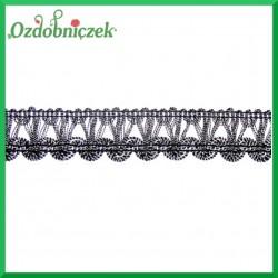 Taśma dekoracyjna łańcuch CZARNO-SREBRNY 1mb
