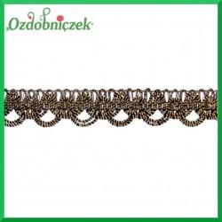 Taśma dekoracyjna łańcuszek CZARNO-ZŁOTA 1mb