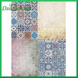 Papier ryżowy A4 - 4 MOZAIKI  R1392