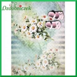 Papier ryżowy A4 - STOKROTKI I BUCIKI  R1396