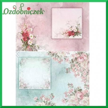 Papier ryżowy A4 - KOLOROWE RAMKI R1407
