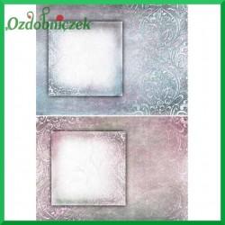 Papier ryżowy A4 - KOLOROWE RAMKI R1410