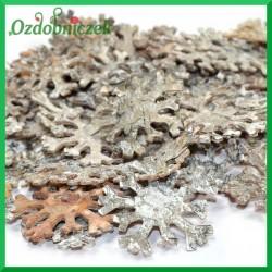 Śnieżynki naturalne z kory brzozy 5,5cm-BIELONE- 100SZT