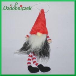 Troll/Skrzat - duża figurka ze zwisającymi nogami-CZERWONY
