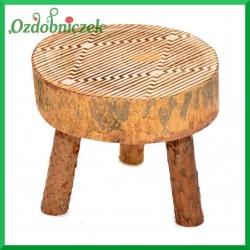 Stołek/Taboret drewniany
