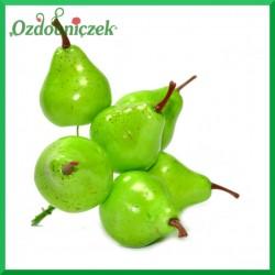 GRUSZKI zielone na druciku 4cm/10szt.