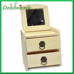 Toaletka mini z dwoma szufladkami + lusterko 20x11,5x12cm