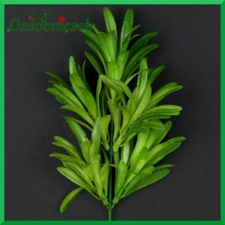 Gałązka listków ozdobnych (A599) 32cm zielona