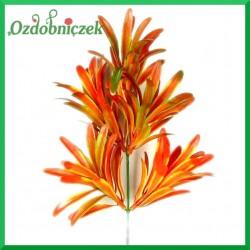 Gałązka listków ozdobnych (A599) 32cm pomarańczowa