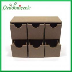 Pudełko z płyty MDF na 6 szufladek 21X14X8 CM