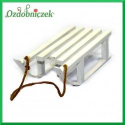 SANKI drewniane ozdobne średnie 7X16CM