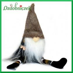 Troll/Skrzat - duża figurka ze zwisającymi nogami - SZARY
