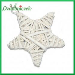 Gwiazdka mała z wikliny 9cm - zawieszka ozdobna
