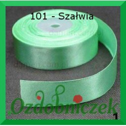 Wstążka tasiemka satynowa 25mm szałwia C101 SZTYWNA