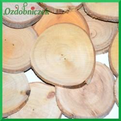Plastry drewna- OKRĄGŁE 5-7cm 20szt