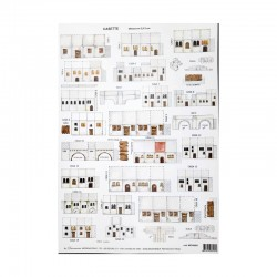 Makiety z papieru - domki białe - 2,5-3 cm wzór 9