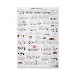 Makiety z papieru - domki białe małe - 1,30-2cm wzór10