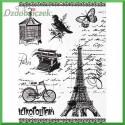 Papier ryżowy A4 - R1512 wieża elfia, rower, klatka