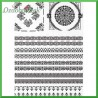Papier ryżowy A4 - R1514 ornamenty czarne