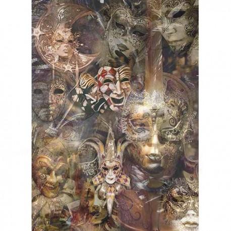 Papier ryżowy A4 - R1521 maski teatralne