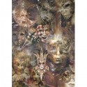 Papier ryżowy A4 - R1532 maski teatralne