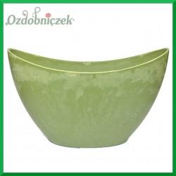 MISA duża - doniczka plastikowa zielona
