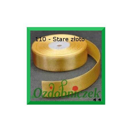 Tasiemka satynowa 25mm stare złoto 110 SZTYWNA