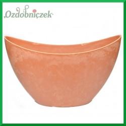 MISA duża - doniczka plastikowa pomarańczowa