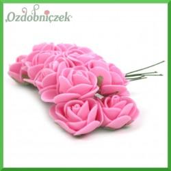 RÓŻÓWE CIEMNE różyczki Z PIANKI Z 2cm 12 cm